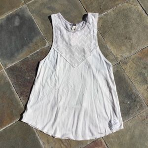 2/$25 NWT Free People #5 Cream and Turquoise Tank